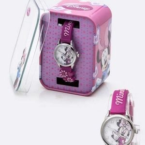 Minnie Flower Jelly Strap Watch